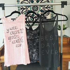 Curated Bundle of Three Workout Athleisure Tops